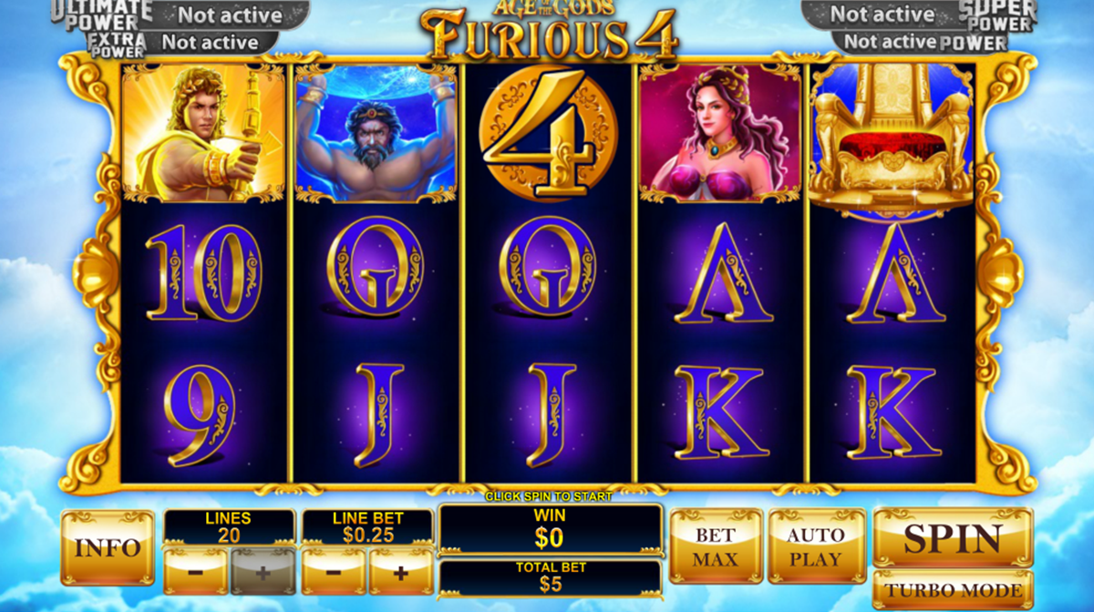 age of the gods furious 4 playtech