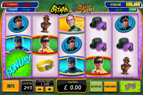 Batman the riddler riches playtech