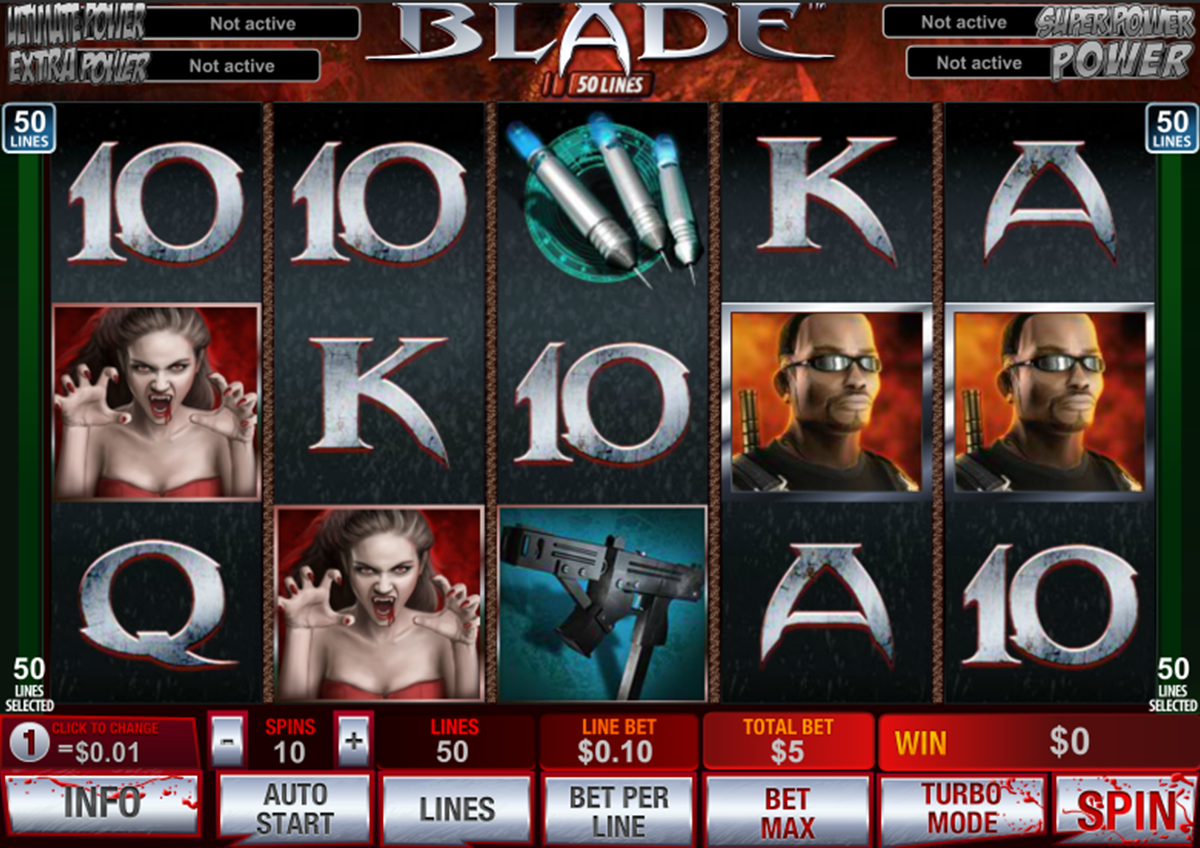 blade 50 lines playtech