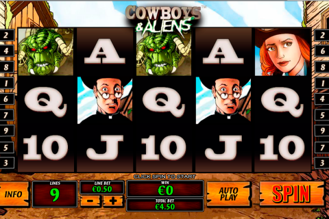 Cowboys and aliens playtech