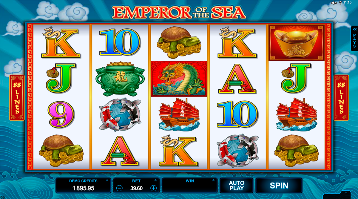 emperor of the sea microgaming