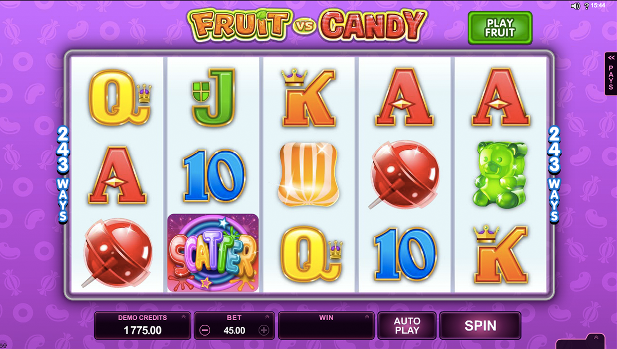 fruit vs candy microgaming