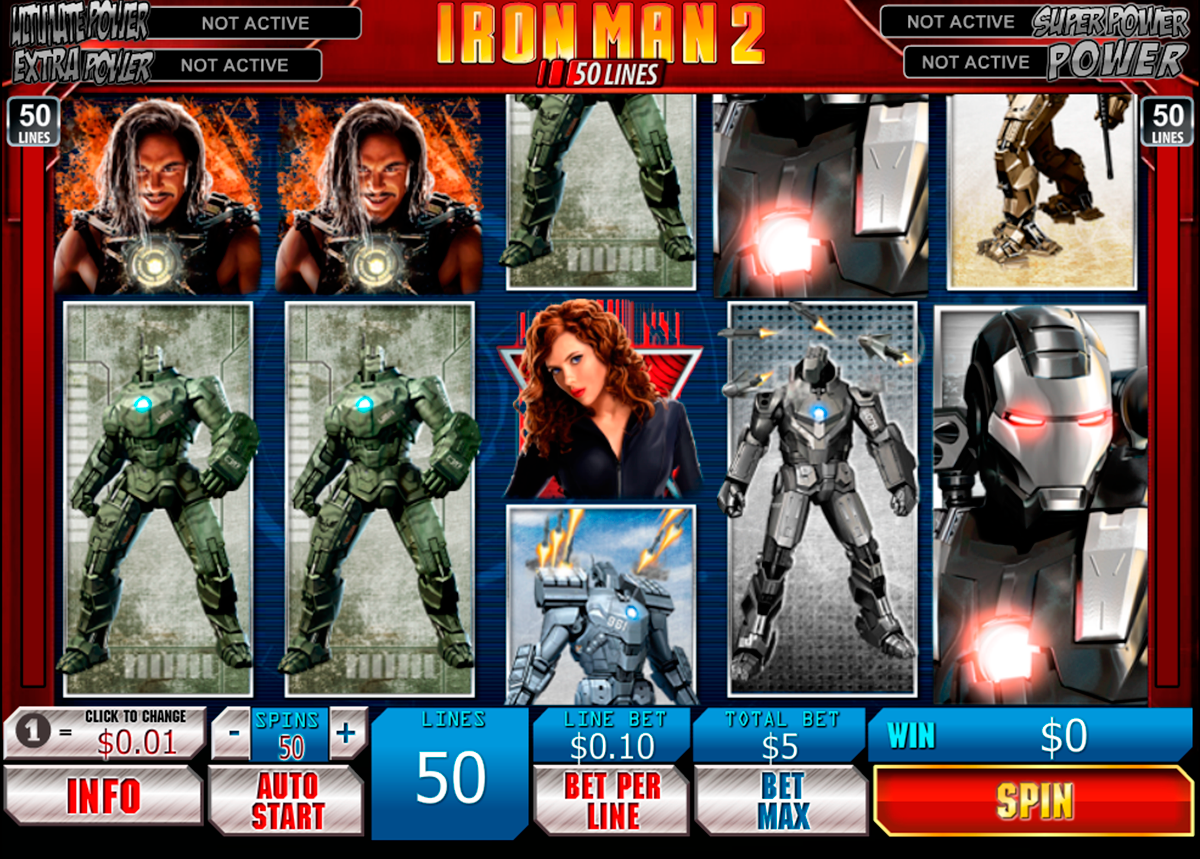 iron man 2 50 lines playtech