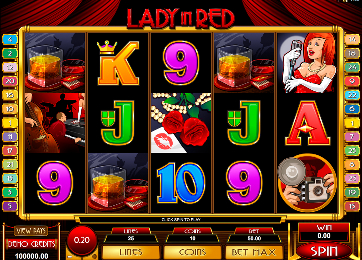 lady in red microgaming