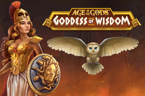 Logo age of the gods goddess of wisdom playtech