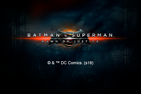 Logo batman v superman dawn of justice playtech