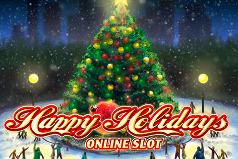 Logo happy holidays microgaming