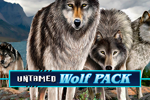 Logo untamed wolf pack microgaming