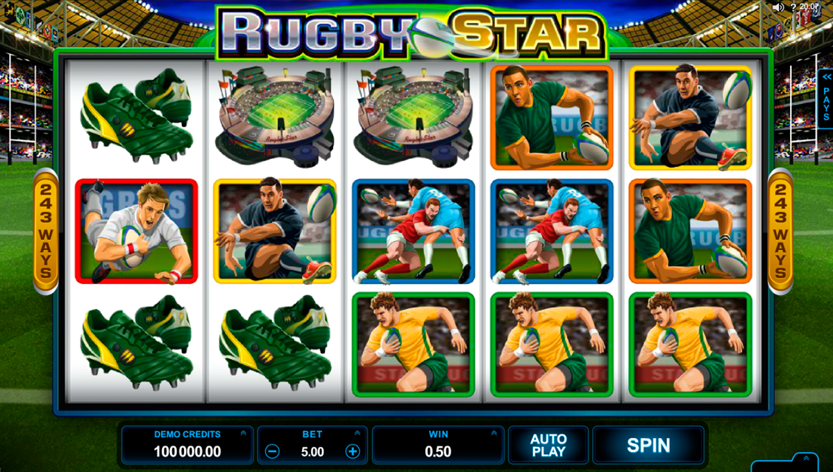 rugby star microgaming
