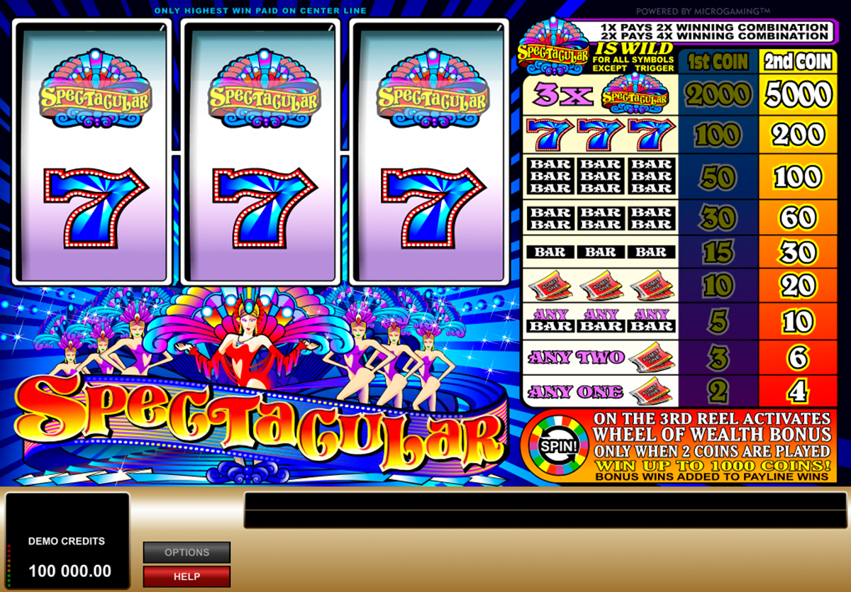 spectacular microgaming