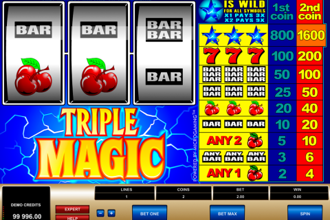 Triple magic microgaming