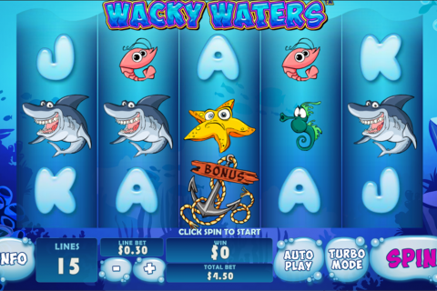 Wacky waters playtech