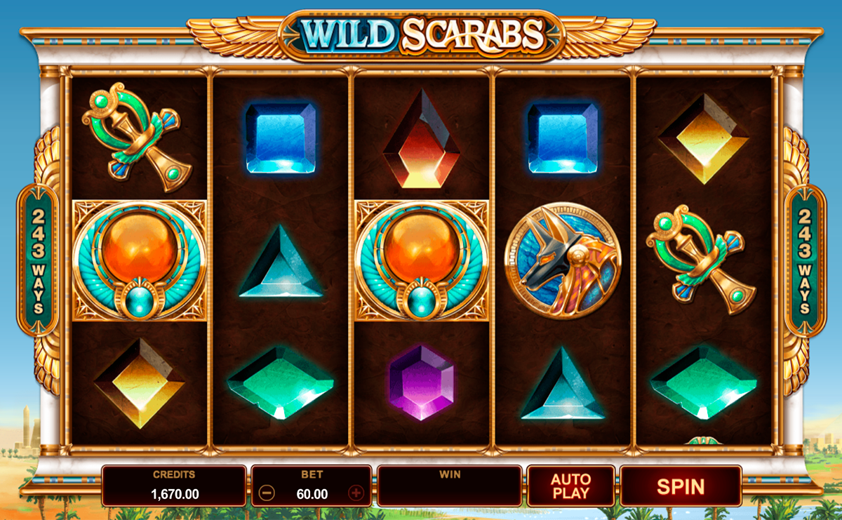 wild scarabs microgaming